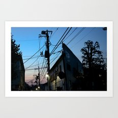 NAKANO NIGHT Art Print