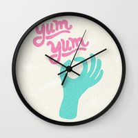 Yum Yum Wall Clock