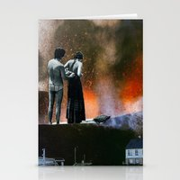 volcanic beach Stationery Cards