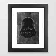 Framed Art Print featuring Darth Vader by Some_Designs