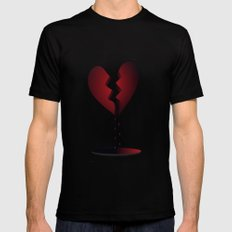 LOVE... Mens Fitted Tee Black SMALL
