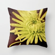 The Art of Letting Go ~ Chartreuse version Throw Pillow