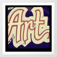 Vintage Art Sign Ttv Pho… Art Print
