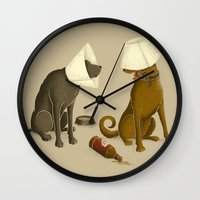 Drunk Dog Wall Clock