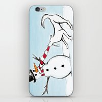 Canine Christmas (Snowma… iPhone & iPod Skin