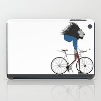 Hipster Lion and his Bicycle iPad Case