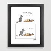 Mousetrap Framed Art Print