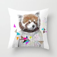 RED PANDA By Jamie Mitch… Throw Pillow
