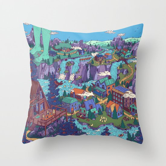 Try Not to Step on Anything This Time Throw Pillow