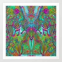 Magical Music Mandala Art Print