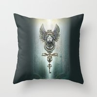 the key and the door Throw Pillow