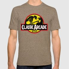 CLASSIC ARCADE Mens Fitted Tee Tri-Coffee SMALL