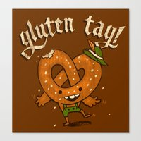 Gluten Tag Canvas Print
