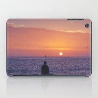 Man Enjoying Sunset iPad Case