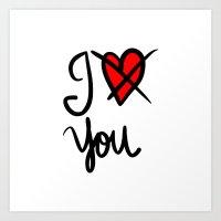 I Don´t Love You  Art Print