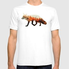Norwegian Woods: The Fox SMALL White Mens Fitted Tee