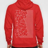 Abstract Grid Outline Wh… Hoody