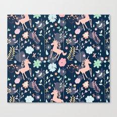 Unicorns in Hesperides Canvas Print
