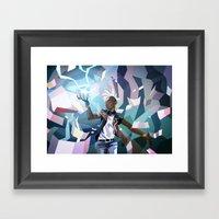 Storm Framed Art Print