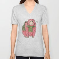 Peachtree The Chimp In R… Unisex V-Neck
