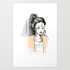 Frenchy Girl Art Print