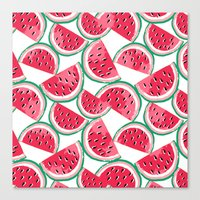 watermelon white Canvas Print