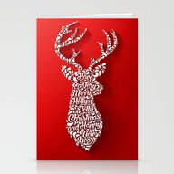 Happy Holidays - Deer Stationery Cards