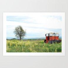 Field Below Art Print
