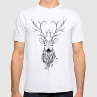 Poetic Deer Mens Fitted Tee Ash Grey SMALL