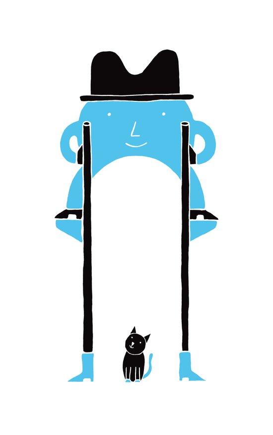Mr Blue Boy Art Print