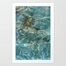 Water texture for iPhone Art Print