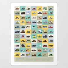 Star Cars Art Print