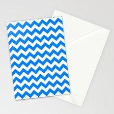 Chevron (Azure/White) Stationery Cards