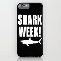 Shark week (on black) iPhone 6 Slim Case
