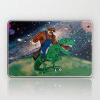 Raccoon Dino Rider.... Laptop & iPad Skin