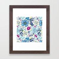 Fling Flowers Framed Art Print