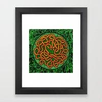 quozarrah jungle serpent mandala Framed Art Print