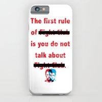 iPhone & iPod Case featuring The First Rule of Fight Club... by Jon Hernandez