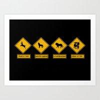 Game Of Thrones Road Sig… Art Print