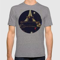Paris By Night Mens Fitted Tee Athletic Grey SMALL