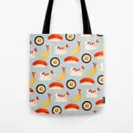 Sushi Time (fade) Tote Bag