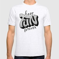 Have Fun Forever Mens Fitted Tee Ash Grey SMALL