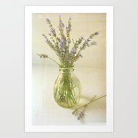 Lavender and Milk Art Print