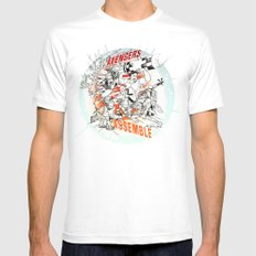 Earth's Mightiest Heroes Mens Fitted Tee SMALL White