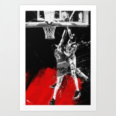 Pippen Over Ewing Art Print