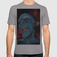 Hello Vampire Mens Fitted Tee Athletic Grey SMALL