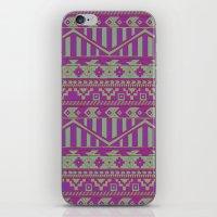 Multicolor Aztec pattern iPhone & iPod Skin