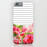 iPhone & iPod Case featuring Floral Stripes by Allyson Johnson