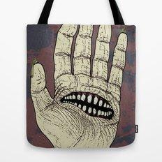 Hungry Hand Tote Bag