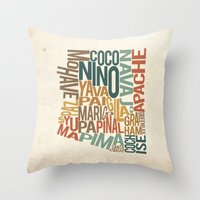 Arizona By County Throw Pillow